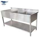 Custom STAINLESS STEEL KITCHEN SINK WITH DRAIN BOARD