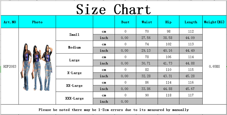 B91061 2019 new  sexy hole tassel women pencil pants casual denim jeans hot selling Amazon