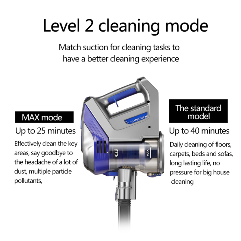 Large Capacity Dry Wireless Handheld Vacuum Cleaner Rechargeable Cordless