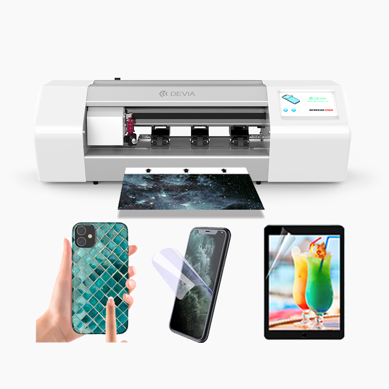 Devia New all coverage Tempered Glass Screen Guard Protector Max 12.8 Inches Front black film cutting machine