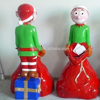 Elfish christmas decorations elf Christmas figure fiberglass life style Elf