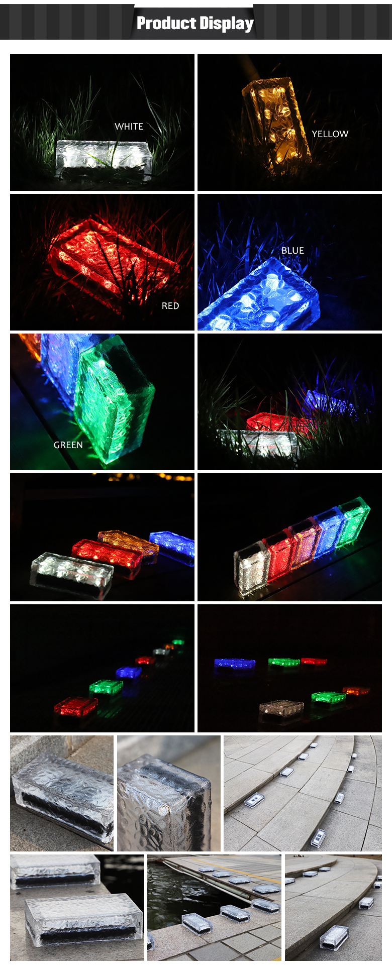 New environmental protection decoration material LED glass paver bricks