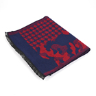 High Quality Good Design Red And Blue Pashmina Shawl Winter Warm Scarf Women