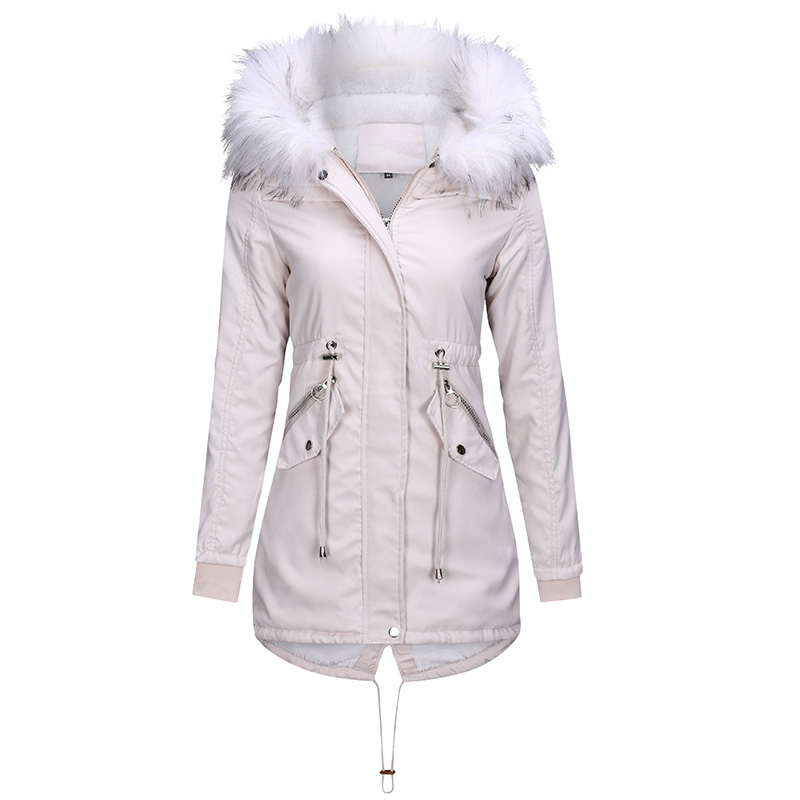 2019 New Arrivals Wholesale <strong>Fashion</strong> Womens <strong>Winter</strong> Long <strong>Coats</strong> Faux Fur Lining Outwear Jacket with Hood