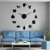 Merry Chritmas Happy New Year Quartz Acrylic Mirror Sticker Large Wall Clock Fashion Home Decoration Wall Clock Christmas Gift