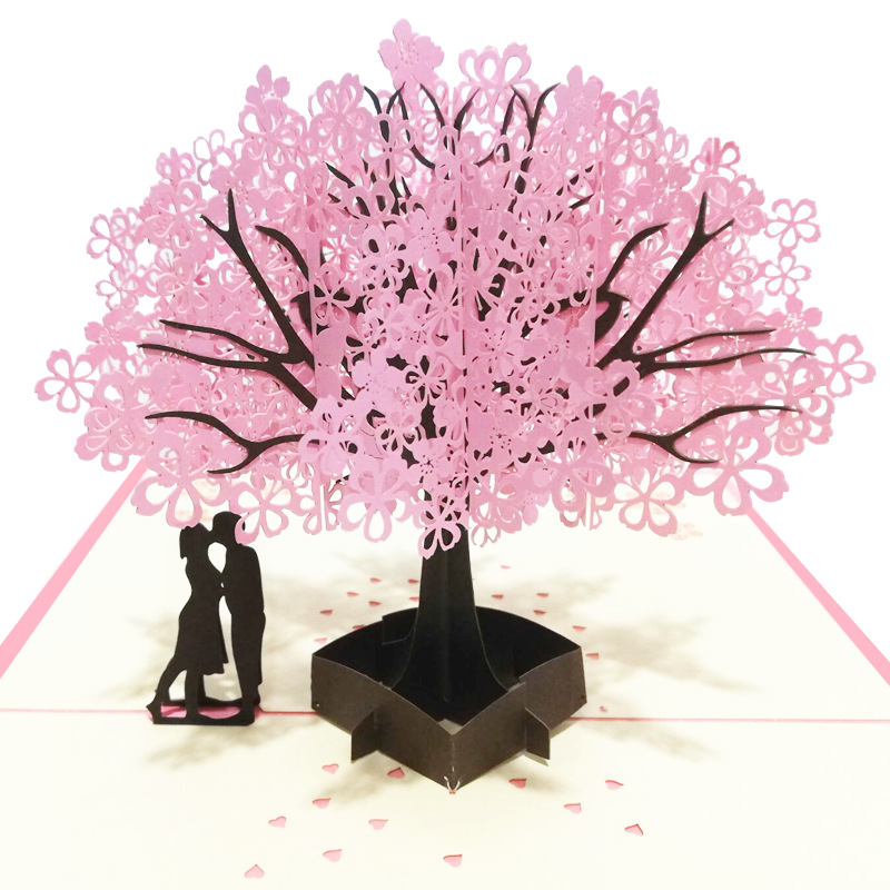 Ywbeyond 3D Pop UP <strong>Cards</strong> Cherry Tree Wedding Invitations <strong>Cards</strong> Valentine's Day Anniversary Greeting Gifts <strong>Card</strong> Postcard