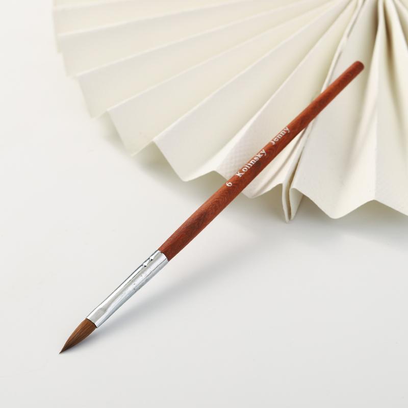 Ospor — brosse à ongles, modèle 100% en acrylique fin, pour sculpture, avec manche en métal et en diamant