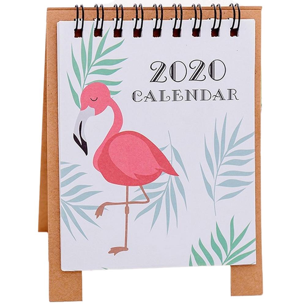2020 настольный мини-календарь с милыми мультяшными рисунками, откидной стоячий настольный календарь, планировщик для семьи, товары для дома ...(Китай)