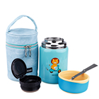 750ML kids children and baby food flask ,stainless steel kids school thermal food lunch flask with spoon and pouch