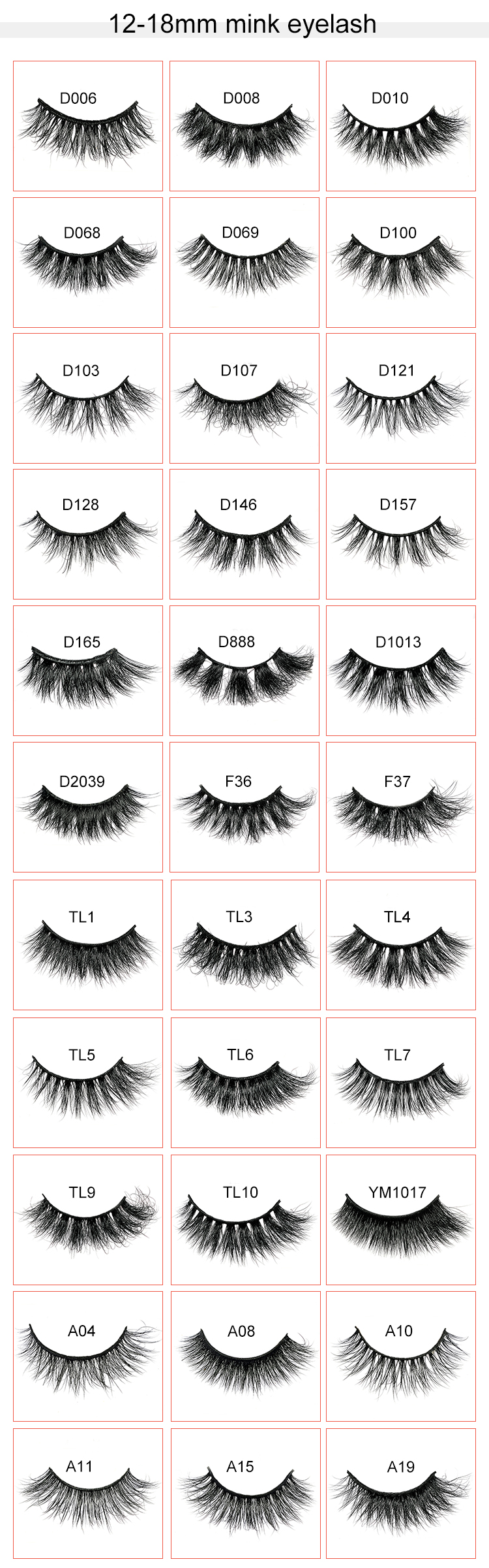 Wholesale Siberian Mink Lashes Private Label Packaging Cruelty Free Lovely 3D Mink Eyelashes