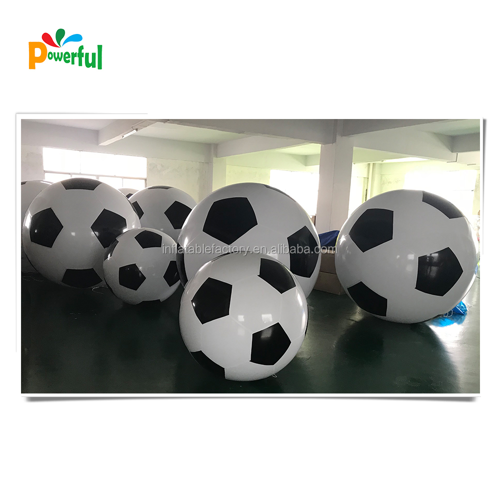 Customized size inflatable soccer ball for sale