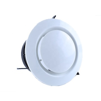 Round ABS Adjustable Air Vent Diffuser Air Return Vent For Central Air Conditioning