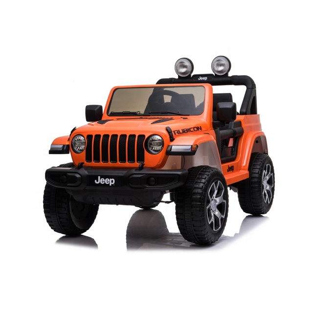 2019 New Licensed Wrangler jeep children baby ride on car double seat toy cars kids electric car 10 year olds for kid to drive