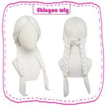 Ebingoo мама Коко Вдохновленный Белоснежка длинный плетеный синтетический косплей парик косички с длинной наклонной челкой Prestyled женские пари...(Китай)