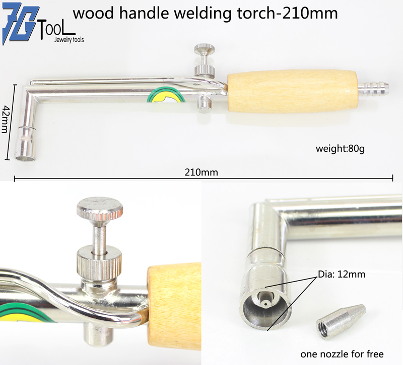 Adjustable Flame Gas Torch Solder Handle Pipe Wood Welding Torch Equipment Tool