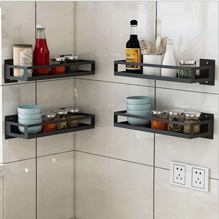 201 Stainless Steel power coated Restaurant storage hanging Spice Rack wall for kitchen Corner <strong>shelf</strong>