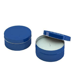 Small metal seamless massage candle with tin box