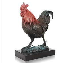Latón puro 12 Zodiaco animales Gallo estatua estatuilla Animal ornamento <span class=keywords><strong>pollo</strong></span> estatuas en casa <span class=keywords><strong>Decoración</strong></span>
