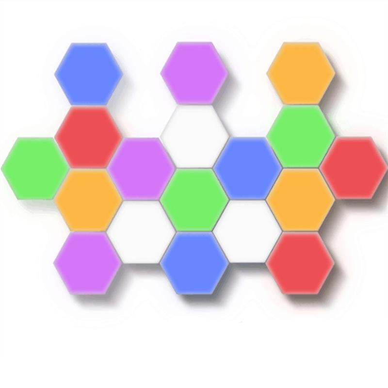 10 Uds. Luz festiva Linda para niños Color blanco decorativo magnético táctil Hexagonal Quantum panal lámpara de pared Led luz nocturna