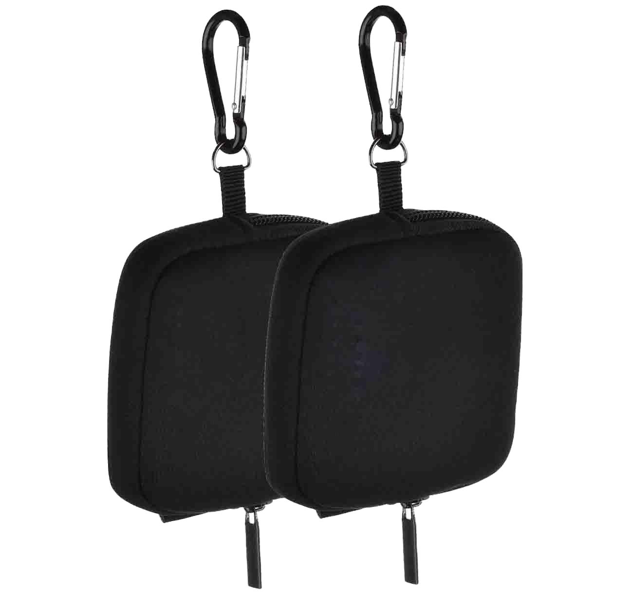 Golf Ball Pouch Bag Valuables Tee Clip Zipper Hook Pocket