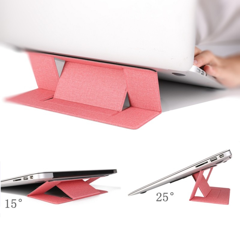 Portable Laptop Stand Slim Adjustable Notebook Tablet Holder Foldable Invisible