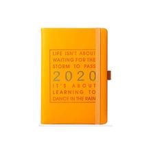 Новый модный блокнот А5 2020 года, утолщенный мягкий кожзаменитель, экономичный журнал на английском языке ян-дека 2020(Китай)