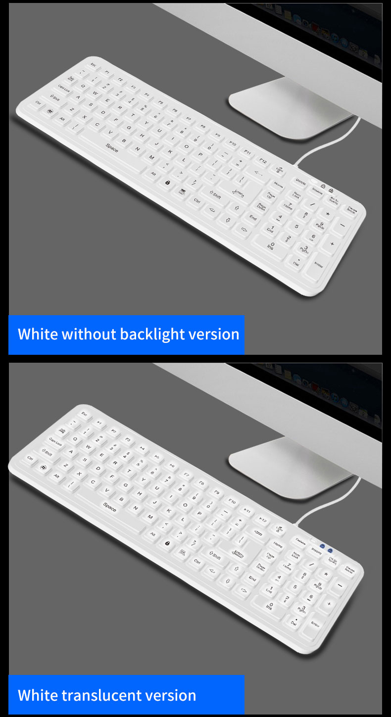 iP68 hot sell and new washable medical keyboard for hospital