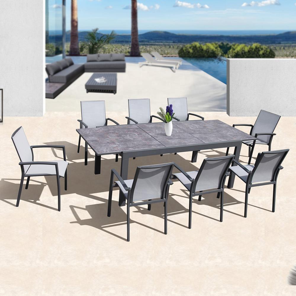 Aluminum Patio Extending Outdoor Table Chair Garden Furniture Outdoor - Buy  Outdoor Table Set/extension Table Set,Extending Outdoor Table