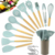 New Color Nylon Wood Wooden Silicone Cooking Tool  Kitchen Utensils Set