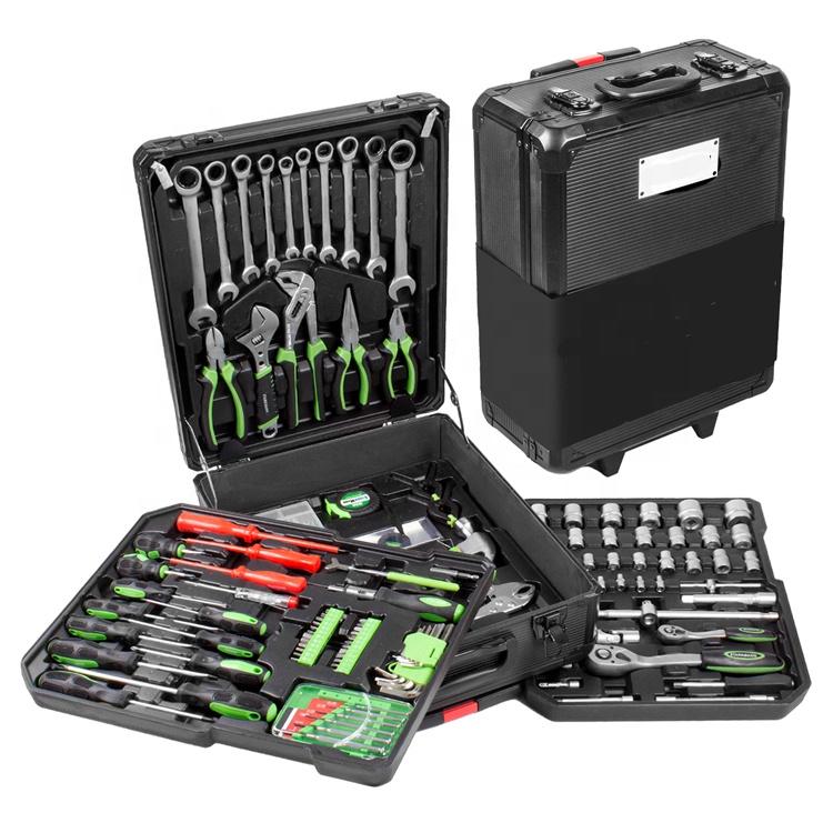 High Quality 399pcs Trolley chrome vanadium Mechanical Tools sets