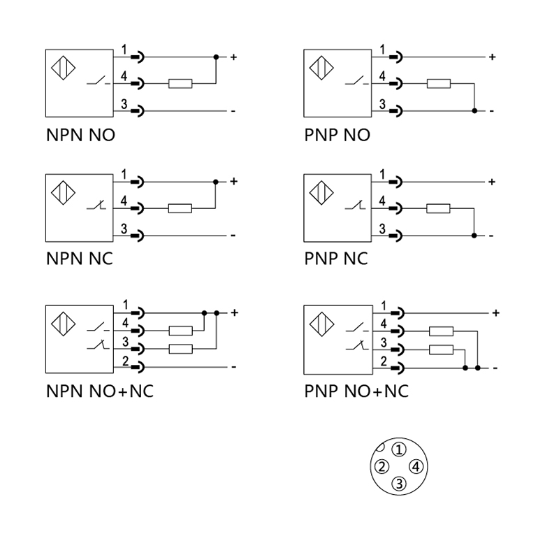 Npn No Nc Retro Reflection Photoelectric Switch Infrared Sensor 3m Visible Light Sensor And Ip64