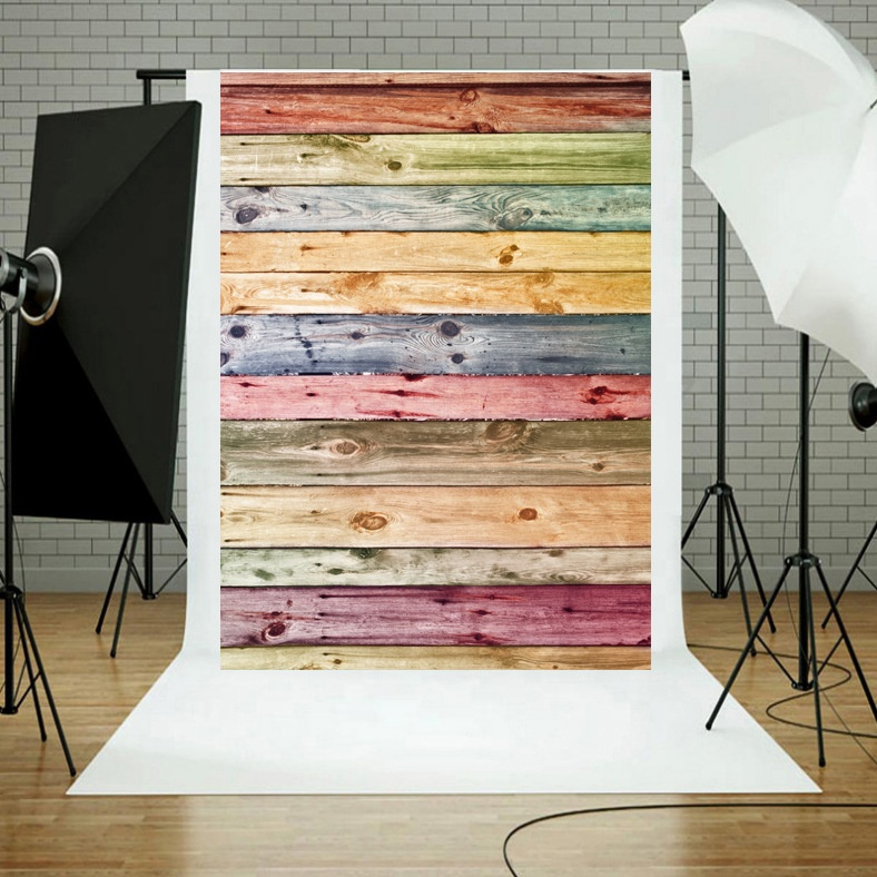 Wholesale Colour Wood Photography Backdrops Newborn Photo Booth Backgrounds For Photographers Studio Vinyl Photophone Floors фото