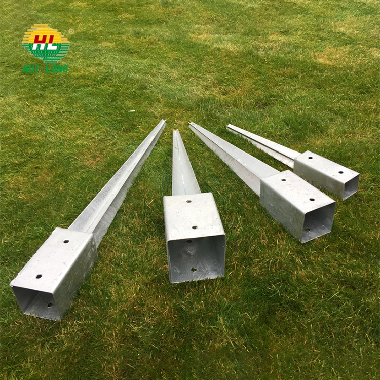 Factory directly supply square fence post anchor galvanized and PVC for  welded wire mesh fence