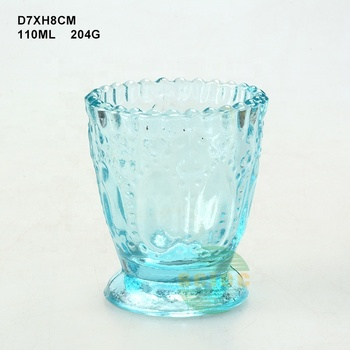 Free of high safety candle holder glass / home goods crystal candle holder