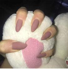 Nusx накладные ногти для дизайна ногтей 24 шт. матовые насадки с эффектом длинные остроконечные головки поддельные формы для ногтей наращиван...(Китай)