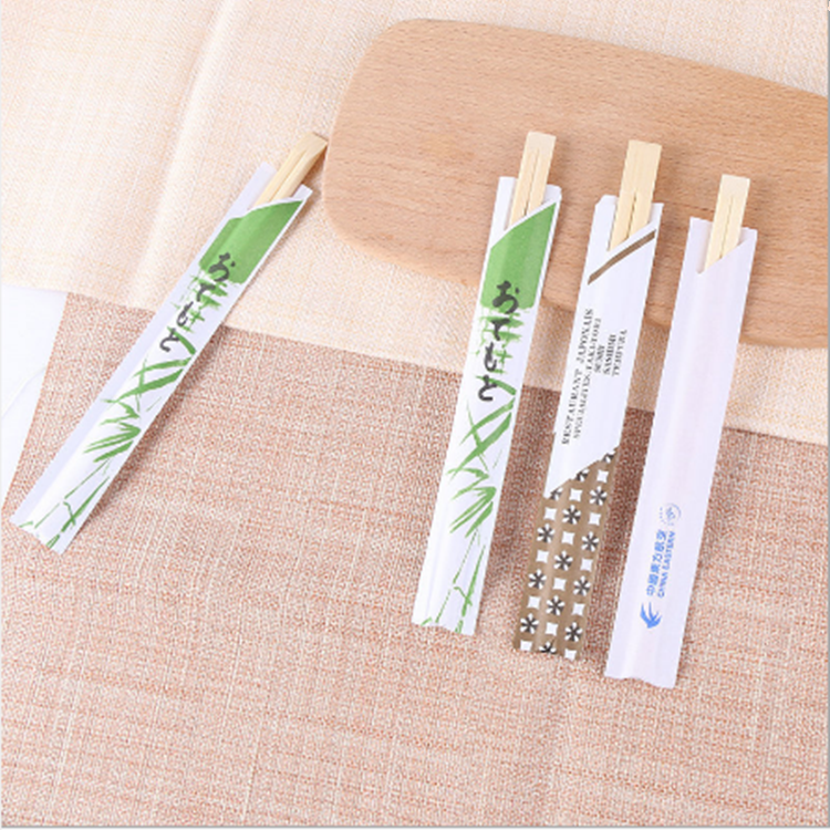 New Product Ideas 2019 China Made Disposable Personalized Paper Sleeves Cover Wooden Bamboo Chopsticks by machine