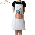 Logo Customization Apron Pocket Apron Wholesale Woman Adult Washable Chef Pocket Kitchen Polyester Cotton Custom Apron With Logo