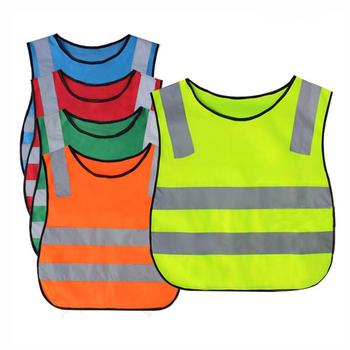 Custom print kids reflective safety vest children safety vest