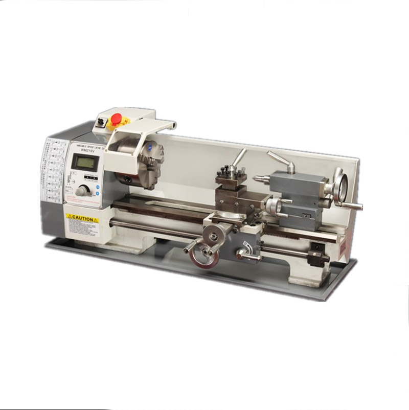 Update WM210V Metal Lathe 38mm Spindle Bore Hole Mini Lathe Machine for DIY Metal working