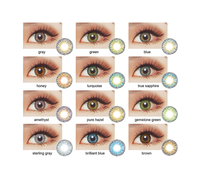 fresh looking 3 tone colored eye contact lens soft yearly cosmetic wholesale china cheap color contact lenses