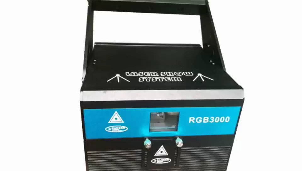 3W RGB Laser Projector Stage Animation DISCO Light  ILDA Small Beam Full Color Laser light