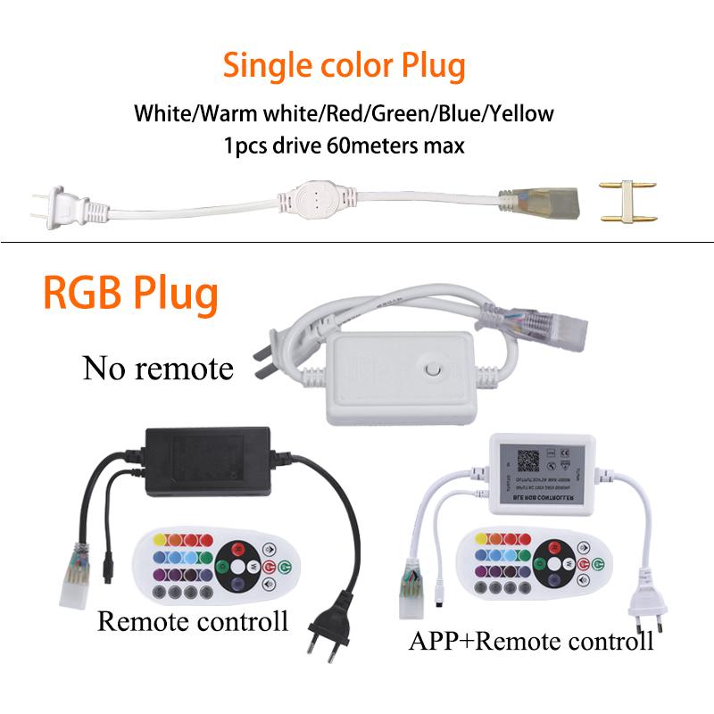 Wholesale Smart Neon Flex 220V Outdoor Flexible 5050 SMD 100m RGB Waterproof Led Strip/Led Strip Lights/Led Light Strip