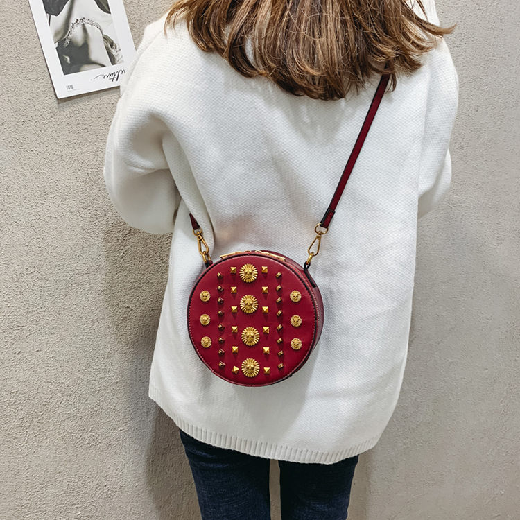 Rivet small shoulder bag diagonal bag fashion women crossbody bags