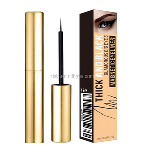 Private label your brand makeup organic 24k gold box eyeliner magnetic best waterproof rainbow liquid name brand eyeliner