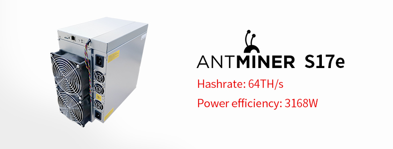 New machine  SHA256 2880W 64T antminer s17e with Original psu for Asic miner
