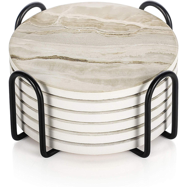 Marble Style Absorbent Avoid Furniture Being Scratched Sublimation Coaster