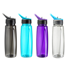 New design fashion low price bpa free 800ml tritan plastic space sports drinking tritan water bottle with straw clear