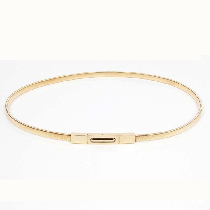 fashionable gold waist stretch belt meta waist belt