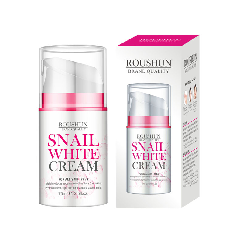 Roushun Day <strong>Cream</strong> &amp; Night <strong>Cream</strong> to Smooth Wrinkles,Snail white <strong>Cream</strong> whitening skin