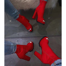 Sexy Rosso Colore di Base <span class=keywords><strong>Stivali</strong></span> <span class=keywords><strong>Scarpe</strong></span> Da <span class=keywords><strong>Donna</strong></span> 2019